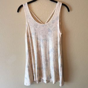 Moa Moa tank top with gold glitter threads